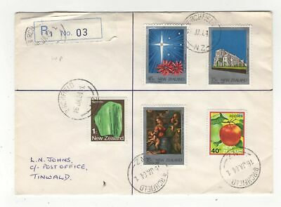 New Zealand Registered Cover 16 Jan 1984 Birchfield to Tinwald 138c