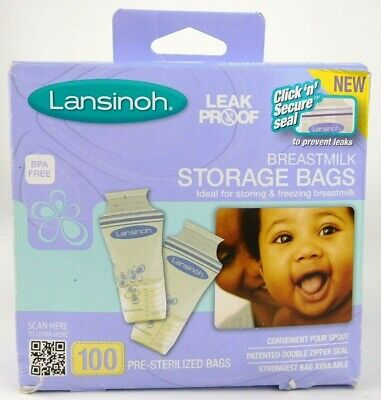 Lansinoh Breastmilk Storage Bags BPA BPS Free Pack of 100 Counts