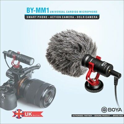 Boya By-Mm1 Universal Cardiod Microphone For Dslr And Smartphones