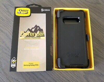NEW Otterbox Defender Serie Case For Samsung Galaxy S10+(Plus) - With Belt Clip