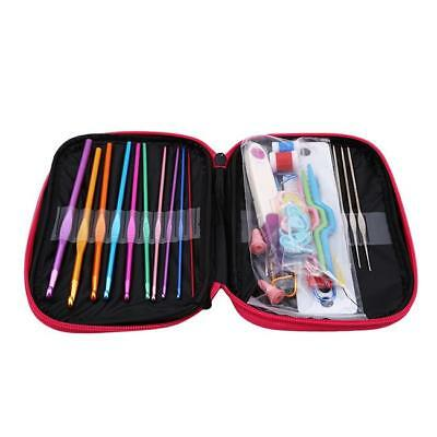 Multi Color Soft Grip Set Handle Aluminum Crochet Hook Knitting Needles FG