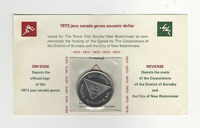 1973 Canada Games Souvenir Dollar *** New Westminster-Burnaby, British Columbia