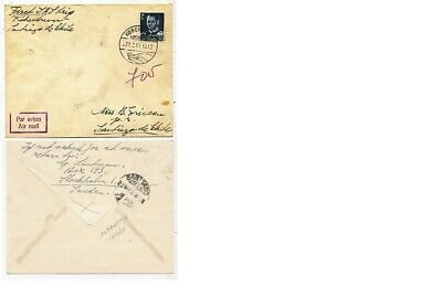 Cpa Pk Ak Timbre Stamp Aviation Air Mail Danemark Copenhage To Santiago Chili