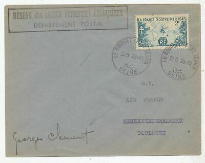 Cpa Pk Ak Timbre Stamp Frace Aviation Toulouse Le Bourget 1945