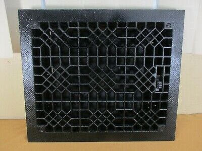 "Antique Cast Iron FLOOR Register Heat Vent Grate 14"" x 12""  w/ LOUVER  Reclaimed"