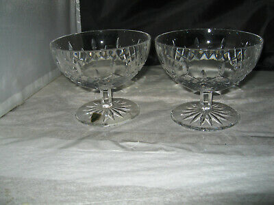 (2) Waterford Crystal Bowl Lismore Pedestal Footed Open Candy Dish's 5.5""