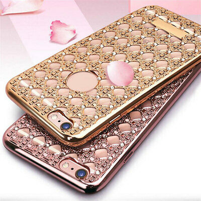 Gold Bling Glitter Shockproof Diamond Soft TPU Tasche für iPhone 6s Plus