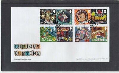 GB 2019 Curious Customs Royal Mail FDC First Day Cover Enniskillen Derry spec pk