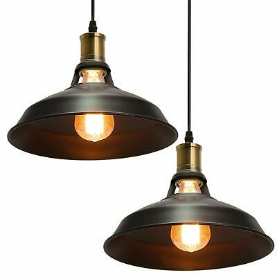 Clic Retro Vintage Copper Pendant Lights Lampshade Ceiling Hanging Pendent Uk