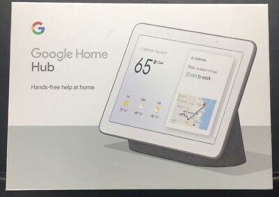 Google Home Hub - Charcoal - Smart Assistant Brand New Sealed GA00515-US