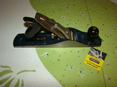 Vintage Stanley-Bailey Smooth Jack PLANE No.5 w/Tag Woodworking Tool Carpentry