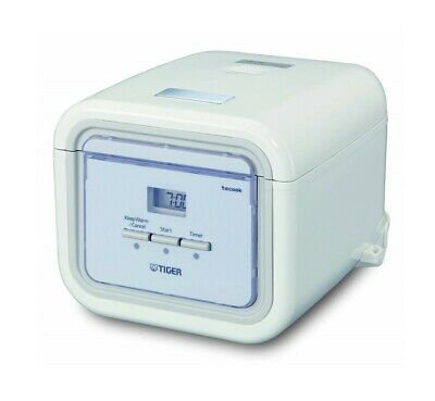 Tiger White Square Front Rice Cooker Warmer JAJ-A55U 3 Cups