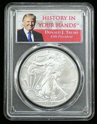 2017 American Silver Eagle $1 Coin Pcgs Ms70 First Strike - 04154