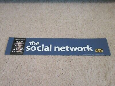 *** THE SOCIAL NETWORK [2010] *** D/S 2.5 x 11.5 [SMALL] MOVIE POSTER [MYLAR]