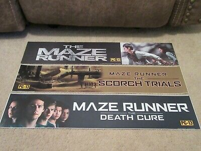 *** THE MAZE RUNNER [COMPLETE] *** 5x25 [LARGE] MOVIE THEATER POSTER [MYLAR] LOT