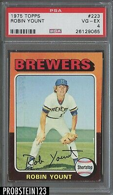 1975 Topps #223 Robin Yount Milwaukee Brewers RC Rookie HOF PSA 4 VG-EX