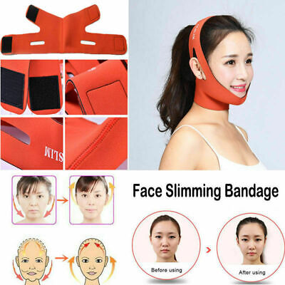 Facial Thin Face Slimming Bandage Mask Belt Shape Lift Reduce Double Chin 2019