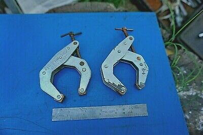 2 Pc 2-1/2 D Kant-Twist Clamps T-Handle  Non Marking Welding C-Clamps Made In Us