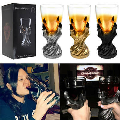 USA Game of Thrones 3D Dragon Claw Goblet Cup Replica Beer Wine Glass Drinkware