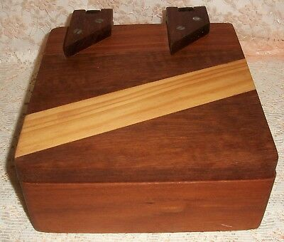 Box Hand Made Selection of Timbers / Wood Lined Box