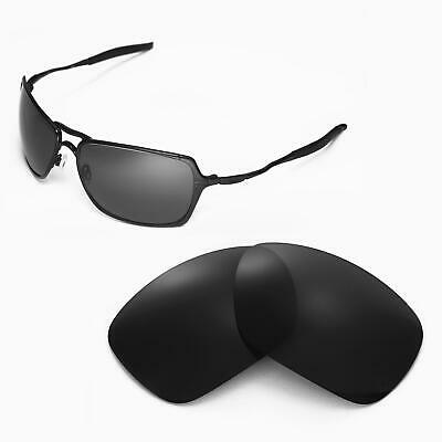 New Walleva Black Polarized Replacement Lenses For Oakley Inmate Sunglasses