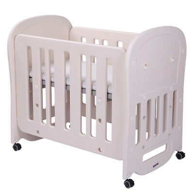 HDPE Baby Nursery Bassinet Infant Crib Portable Cradle Newborn Sleeper Bed New