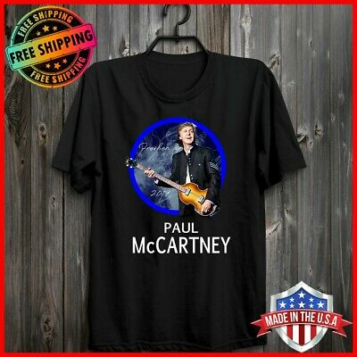FREESHIP Paul McCartney 2019 Freshen Up Tour T-Shirt Black Cotton Tee S-6XL