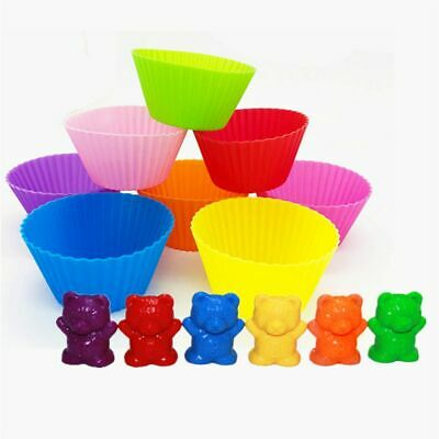 Counting Bears With Stacking Cups Montessori Color Sorting Matching Game Toy