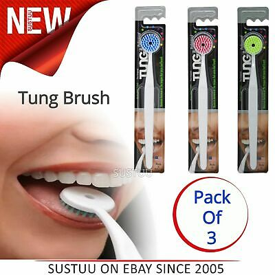 The Original Tung Brush¦Professional Tongue Cleaner Brush¦Short Firm Bristles¦