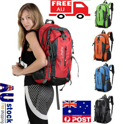 50L Unisex Rucksacks Backpack Waterproof Hiking Camp Trekking School Bag Pack
