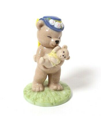Porcelain figurine *Bear in a hat with a cub. Victoria*.Denmark,Bing & Grondahl