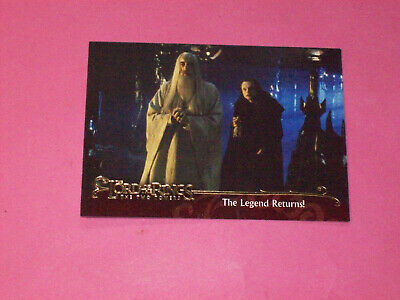 "Topps "" Lord of the Rings "" The Two Towers movie promo card Legend returns FILM"