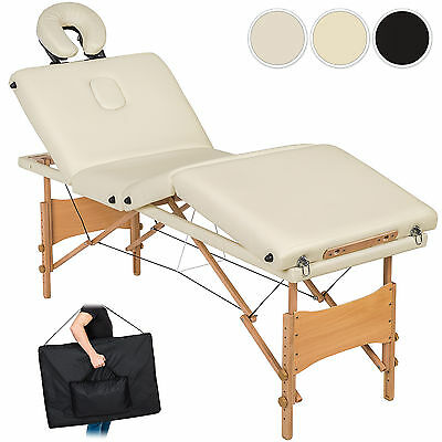 4 SECTION FOLDABLE MASSAGE TABLE BEAUTY ADJUSTABLE PORTABLE TATTOO BED new