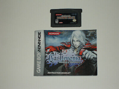 Authentic Castlevania Double Pack with Manual Nintendo Game Boy Advance Rare GBA