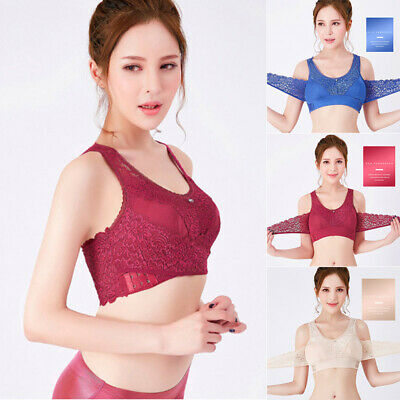 Seamless Magic Wireless Lift Bra Wireless Front Cross Side Buckle Lace Lift Bra