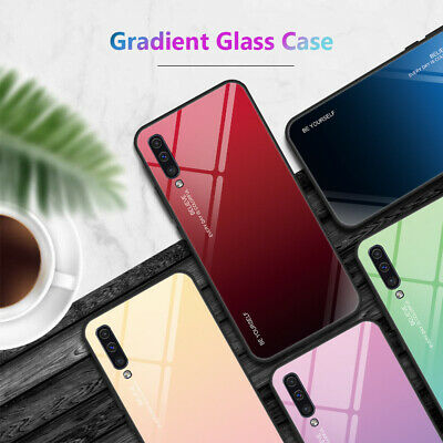 For Samsung Galaxy A10 A20 A30 A40 A50 A70 Gradient Tempered Glass Back Cover