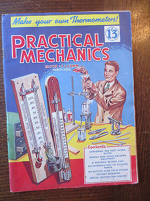 Vintage PRACTICAL MECHANICS MAGAZINE March 1958 Make a Thermometer