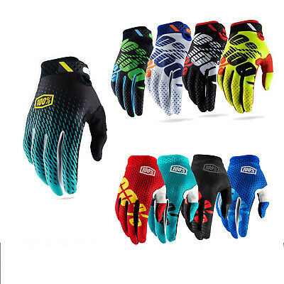 100% Cycling Bicycle Motorcycle Riding Racing Sport Outdoor Full Finger Gloves