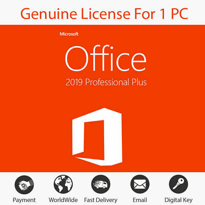 MS Office 2019 Proffesional Plus PC Windows License 1 PC Same Day Delivery