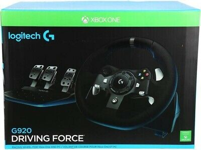 Logitech G920 Driving Force Racing Wheel and Pedals (Xbox One and PC) UK-Plug