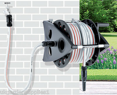 30m Hose and Reel - Hose Pipe with Reel - Claber Garden Water Pipe
