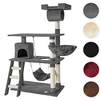 Cat Tree Scratching Post Scratch Centre Bed Toys Kitten Scratcher 141cm new