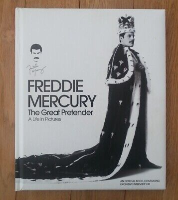 QUEEN - FREDDIE MERCURY-1st Edition The Great Pretender 2012 Hardback Book + CD