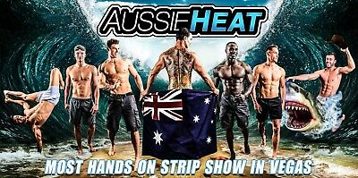2 Tickets To Aussie Heat Male Revue In Las Vegas