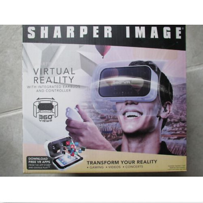 SHARPER IMAGE Virtual Reality Smartphone 360 Viewer W/Controller D-11.9 IC