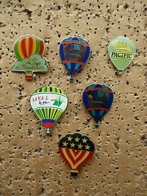 SALE - HOT AIR BALLOONS AIRCRAFT OLD X6 TOP QUALITY VINTAGE ENAMEL PIN BADGE 99p