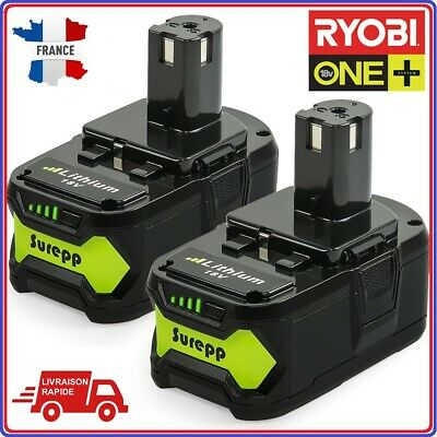Lot 2 Batterie Ryobi One+ Plus 18V 5Ah Perf RB18L25 RB18 L50 P108 P107 P104 P780
