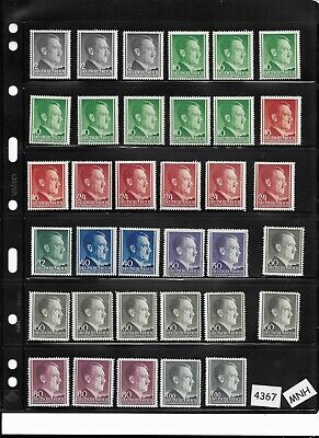 Mixed lot 35 Third Reich Adolph Hitler stamps All MNH  All 1941 / WWII Poland