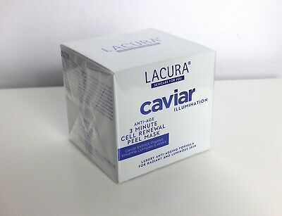BNIB Lacura Caviar Illumination 3 Minute Mask exfoliating peel treatment, 50ml