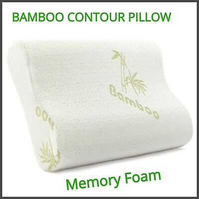 Contour Bamboo Memory Foam Pillow Orthopaedic Head Back Neck Support Soft Pillow